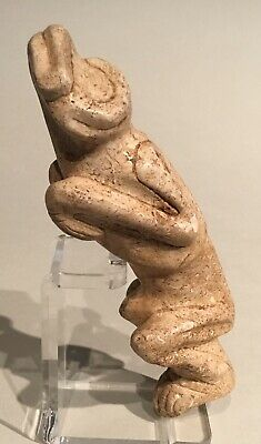 Taino. Marble? Figural Human To Frog Transition PreColumbian
