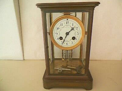 1800'S Tiffany & Co French Crystal 8 Day Regulator Clock Mercury Pendulum