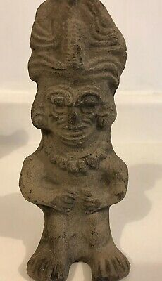 Precolumbian Teotihuacan Hand Carved Terracotta Figural Incense Urn 300-600 AD