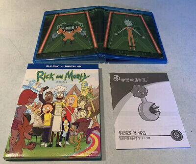 Rick Morty Season 2 Blu-Ray Plumbus Owner's Manual Exclusive - First Edition HTF