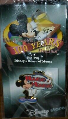 Disney's House Of Mouse #98 100 Years Of Dreams Pin Disney Store NOC