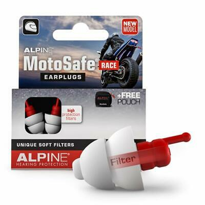 Alpine MotoSafe Race Motorcycle Earplugs System Remain Audible Soft Filters