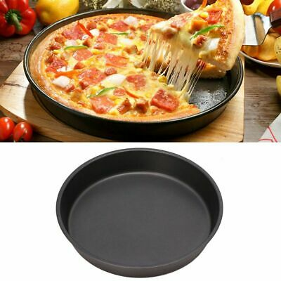 Round Pizza Tray Nonstick Plate Pan Cake Muffin Mold Oven Bakeware Baking Tool q