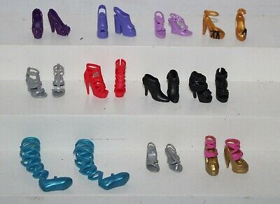 Barbie lot 10 Pairs of Contemporary Fashion High Heels Shoes Pumps Ballet Nice