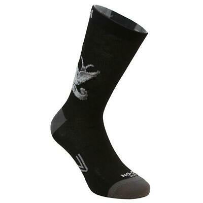 Stockings Technical Sports Long Breathable Antibacterial No-On Birds Black