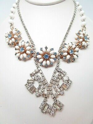 "Rhinestone Art Deco And Retro Need Repair Vintage Necklace 16"" And 17"" Long"
