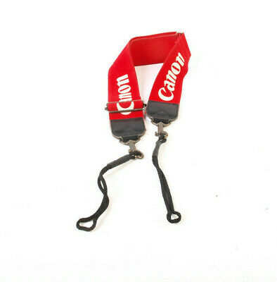 Canon Vintage Wide Red Pro Camera Strap - lanyard fixing
