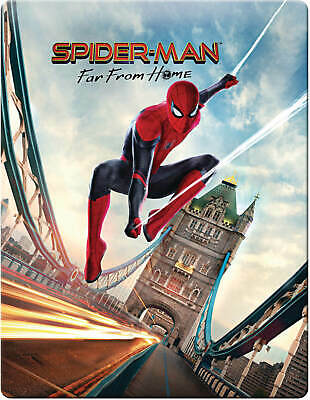 Spider-Man Far from Home 4K UHD/2D BluRay UK Exclusive Cover Steelbook PRE-ORDER