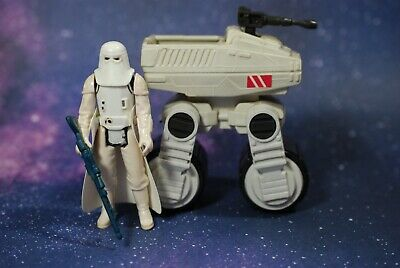 VINTAGE STAR WARS MTV-7 MINI-RIG VEHICLE KENNER + SNOWTROOPER ACTION FIGURE mtv7