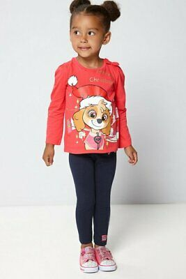 Paw Patrol Merry Christmas top and leggings set age 1-2 yrs bnip