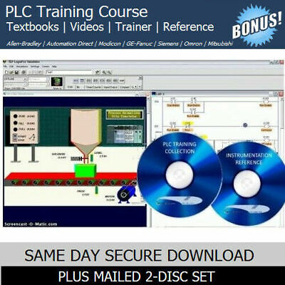 PLC Training Course with SIMULATION Software & OEM Manuals