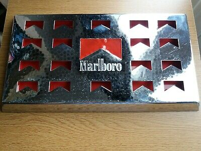 Vintage Marlboro Metal Hammered Top Drip Tray Chrome finish