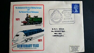 Great Britain Stamps 1971 Centenary Cover National Union Of Railwaymen. SHS