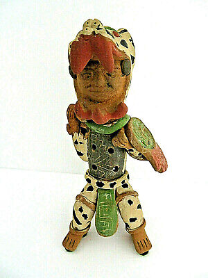 Pre Colombian Free Standing Warrior Figurine Whistle