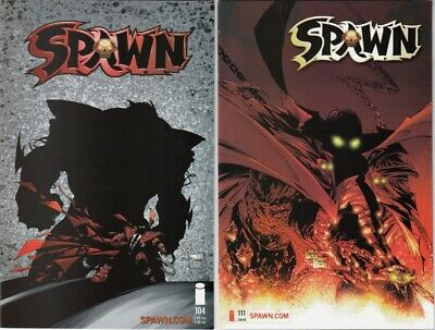 Spawn #104 and #111 NM Greg Capullo Covers Todd McFarlane Lot of 2 Books (2001)