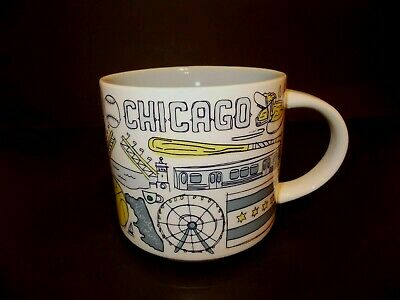 STARBUCKS 14 oz Been There Series Across The Globe Collection Coffee Mug Chicago
