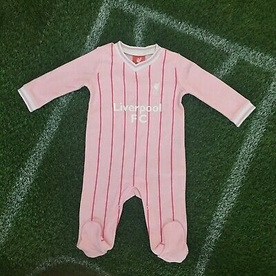 Liverpool FC Official Football baby gift Girls pink Sleepsuit LFC708
