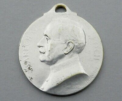 WWI French, Patriotic Medal. Marechal Foch. 1914 1918. France Pendant.