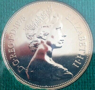 1975 10P Larger Coin. Low Mintage of Proof. Lion passant. Best example I have
