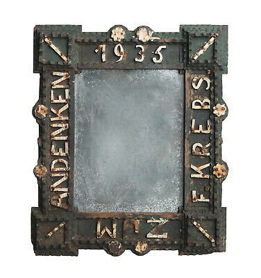 Antique Painted Tramp Art Frame