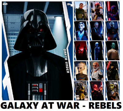Galaxy At War-Gaw-Rebels-16 Card Blue Set-Topps Star Wars Card Trader