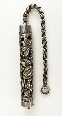 Vintage Late 19th Century Chinese Carved Silver Drop Ornament