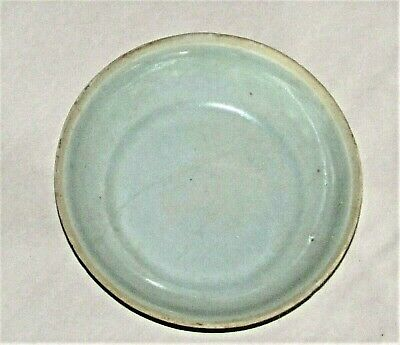 """Chinese Sung Porcelain Dish Celadon Small c.960 - 1279  / 4"""" d  x 1"""" h"""