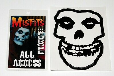 MISFITS 1999 Europe Concert Tour All Access Laminate Pass + Sticker Horror Punk