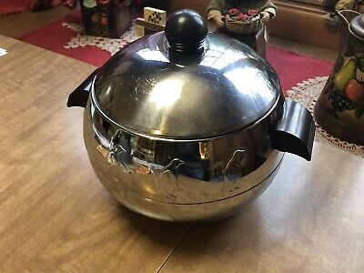 Vintage West Bend Aluminum Co Penguin Hot And Cold Server Ice Bucket