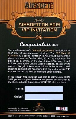 Airsoft Con VIP Pass