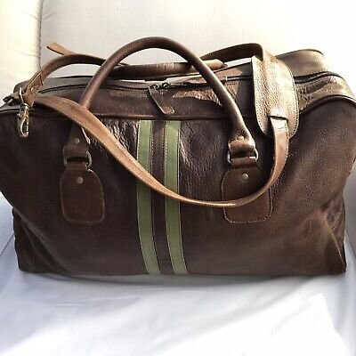Vintage Latino Leather Sport Work Duffle Bag Travel Weekender Made in Colombia