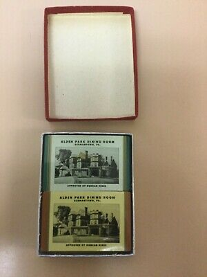 Germantown, Pa.  Rare Alden Park Dining Room 2 Unopened Decks Playing Cards