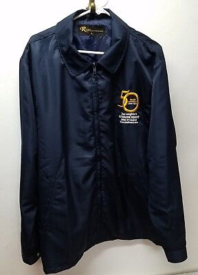 Don Laughlin Riverside Resort Casino 50th Anniversary Blue Embroidery Jacket XL