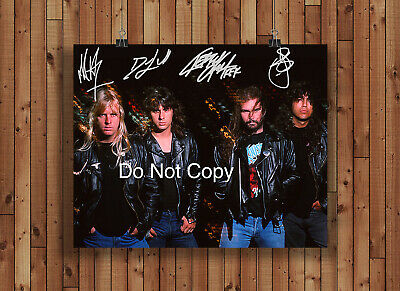 Slayer Signed Autographed Reprint 8x10 Photo Poster Print Slayer Band