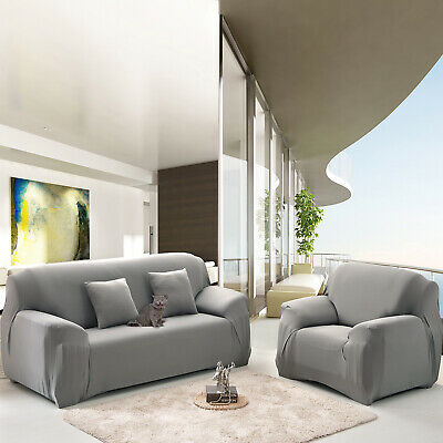 Sofa Cover Quilted Couch Covers Lounge Chair Protector Slipcovers 3 Seaters AU