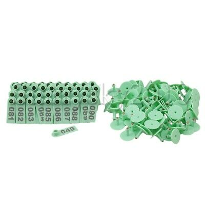 100pcs Goat Sheep Pig Cattle Beef Plastic Livestock Ear Tag Number Tags
