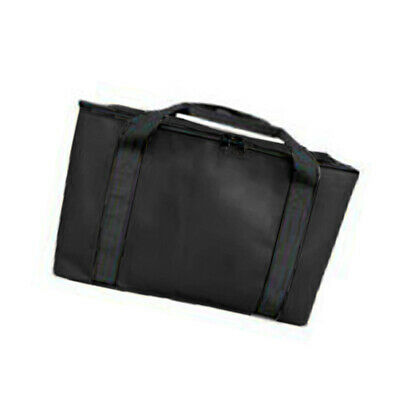 Black Insulated Pizza Food Delivery Bag Carrying Storage Thermal Water Repellent
