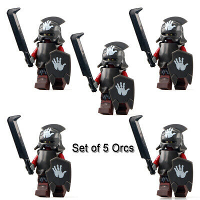 Lord Of The Rings Set of 5 Orcs Minifigures Action Figures Uruk fit lego Bricks