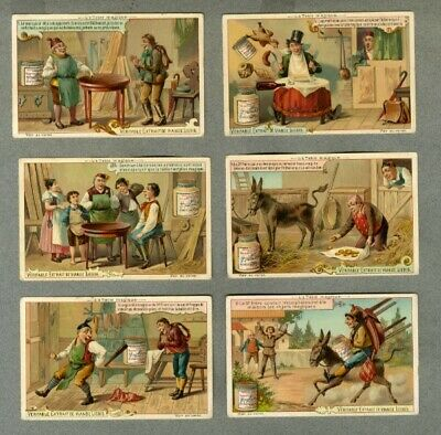 Serie 6 Chromos Liebig S399 Trade Card Menuisier Tables Joiner Falegname