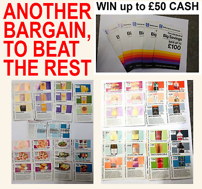 WETHERSPOONS VOUCHERS & BOOKLETS (+ Chance of Lucky £50 CASH)