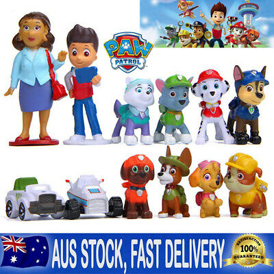 12pc Paw Patrol Dog Puppy Rescue Figure Action Toys Figurine Character Gifts Set