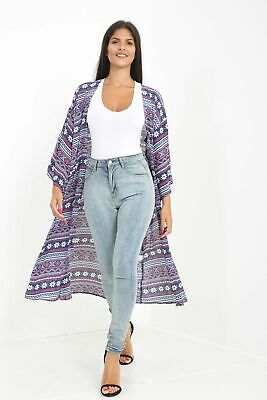 Wholesale Joblot Ladies Long Kimono Cardigan Aztec Print Long  Sleeve Pack Of 6