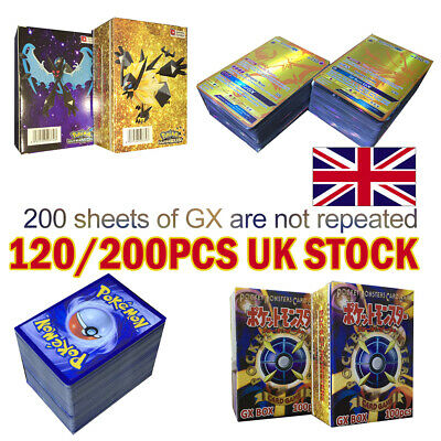 120/200 PCS GX EX MEGA Energy Pokemon Cards Holo Trading Flash Card Bundle UK