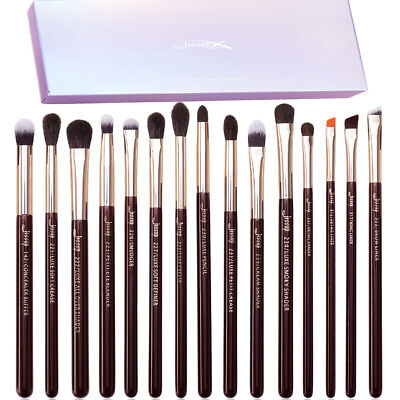 Jessup Eye 15Pcs Cosmetic Brush Set Eyeshadow Eyeliner Blending Kit Rose Gold