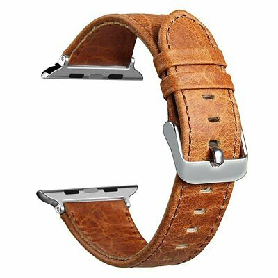 Men's Retro Genuine Leather Apple Watch Band Wrist Strap for iWatch Series 3 2 1