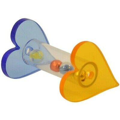 Two Hearts Acrylic Foot Toy For Parrots - Entertaining/Stimulating