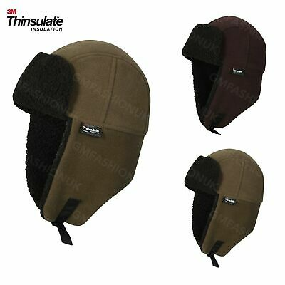 Men's Waterproof Genuine 3M Thinsulate Trapper Hat Windproof Fleece Thermal Hats