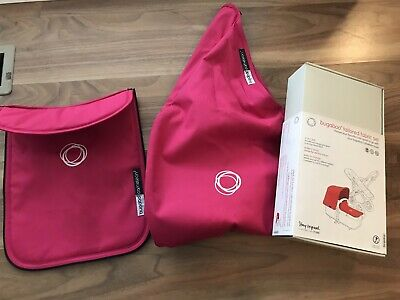 Bugaboo Cameleon 3 Fabric Set - Hot Pink - Sun Conopy and Apron