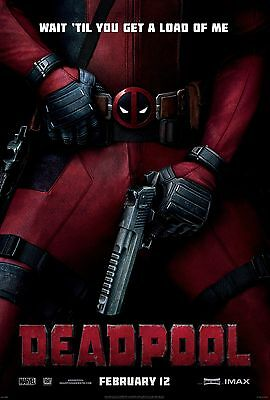Deadpool Movie Poster (24x36)- Ryan Reynolds, Karan Soni, Ed Skrein, Colossus v1