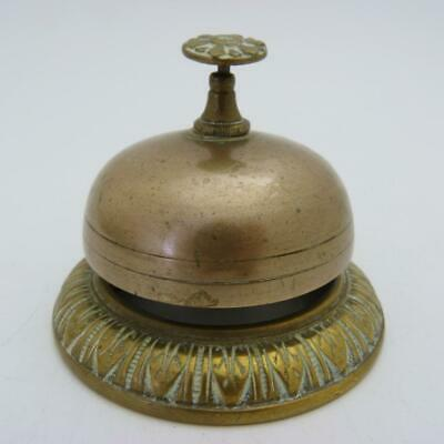 Antique Brass Service Reception Desk Bell